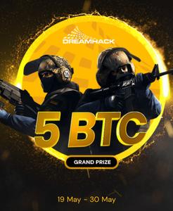 Win 5 bitcoin plus 3 CS:GO skins at Fortunejack