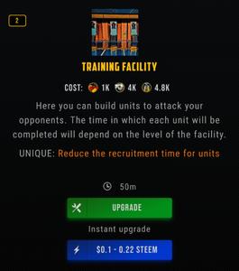 drugwars training facility