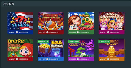 luckyfish slots selection