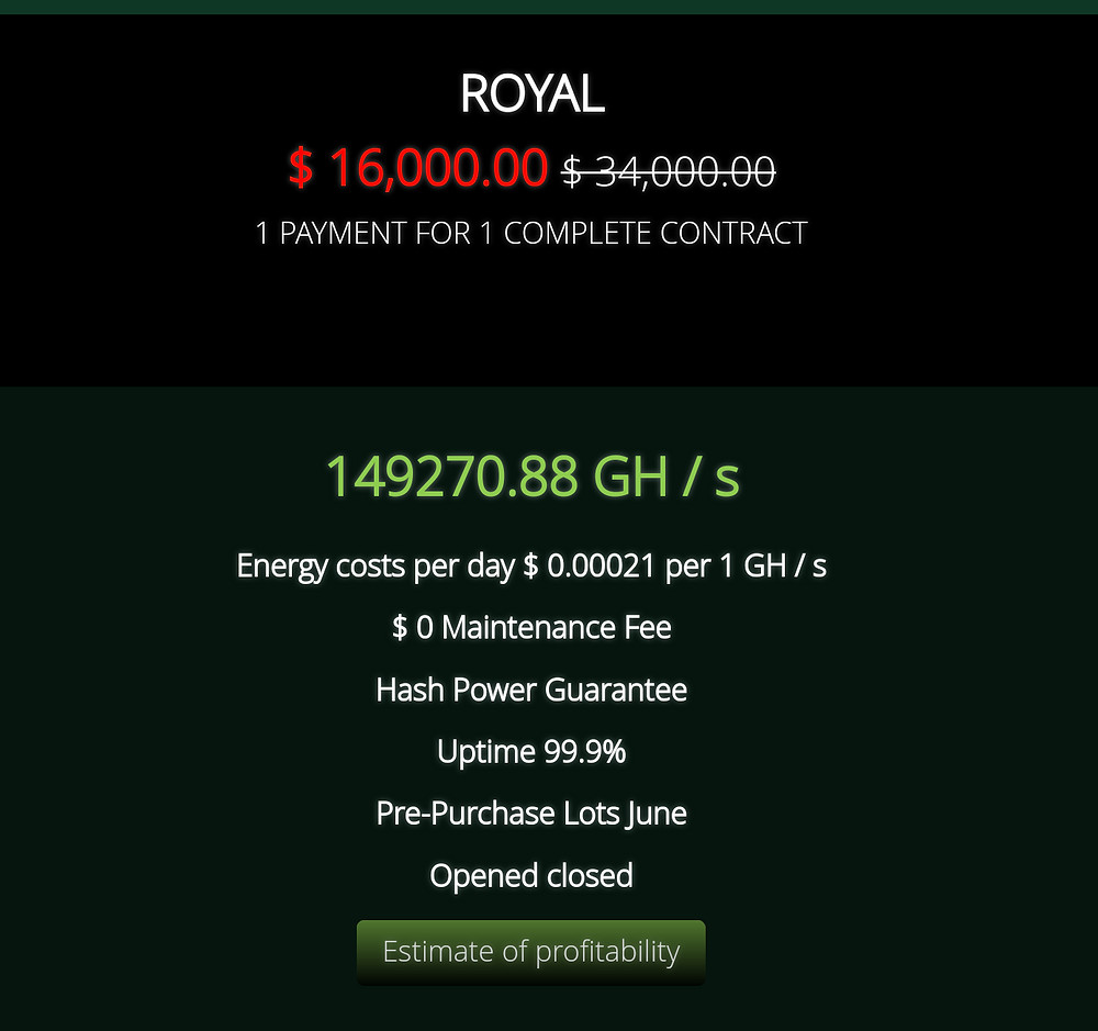 Nuvoo Mining | Royal Mining Contract