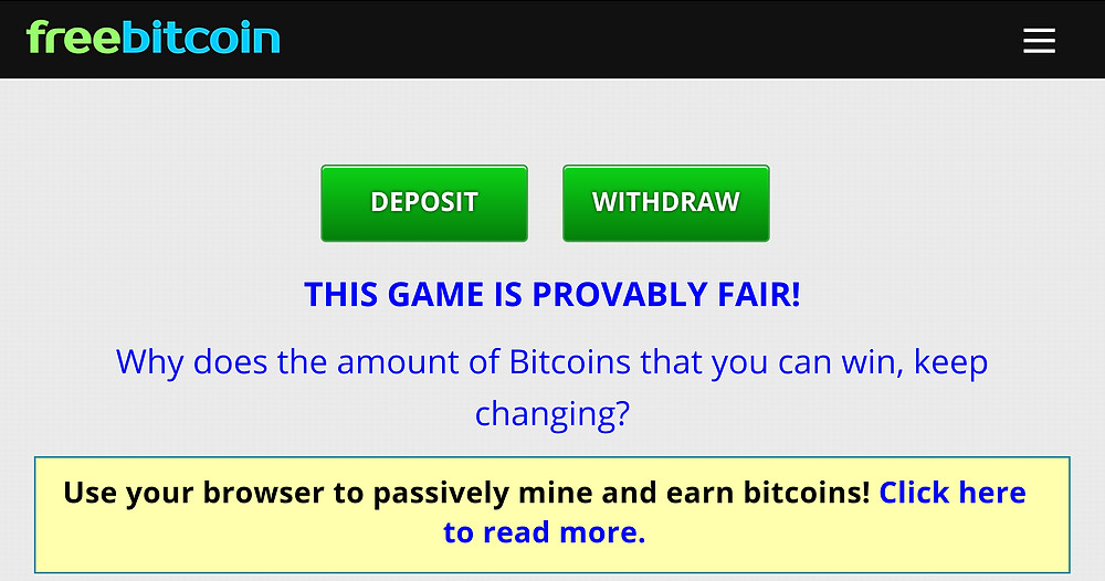 freebitcoin is a site to claim free bitcion and play dice, lottery, rewards and more