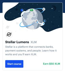 stellar lumens on coinbase earn