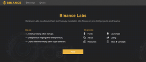 binance exchange features the binance labs