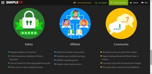 SimpleFX.com site Features | Forex Trading Platform