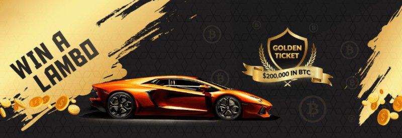 Win a Lambo, freebitcoin golden ticket contest