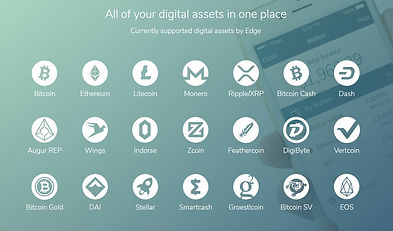 available cryptocurrencies on edge wallet app