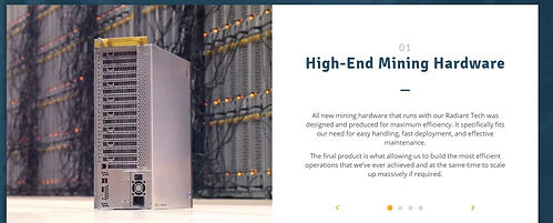High-End Mining Hardware - GM Radiant Technolgy
