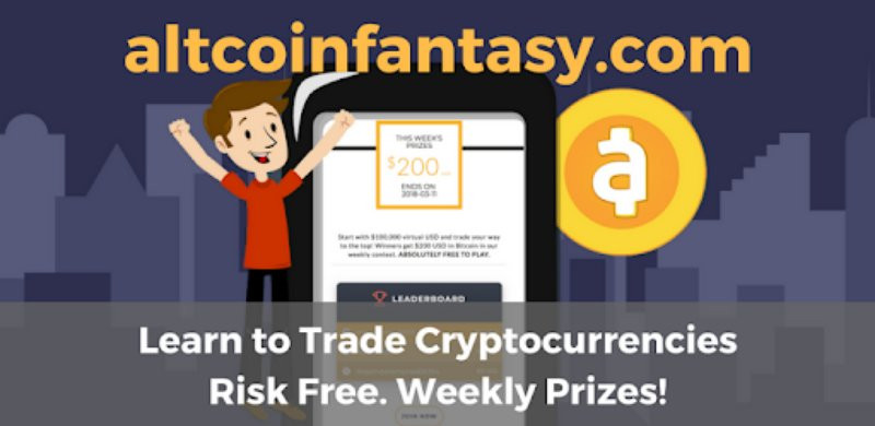 altcoinfantasy.com Learn to trade cryptocurrencies risk free