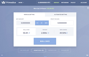 primedice dashboard