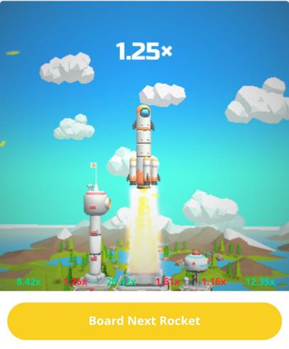 Rocket run game or crash