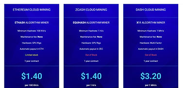 Hashflare cloudmining prices