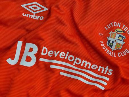 JB Developments New Home Shirt Sponsor 2020/21