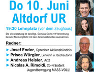 Covid-Gesetz und PMT - Do 10. Juni in Altdorf UR