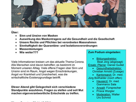 Dialogveranstaltung zur Corona-Politik in Uri