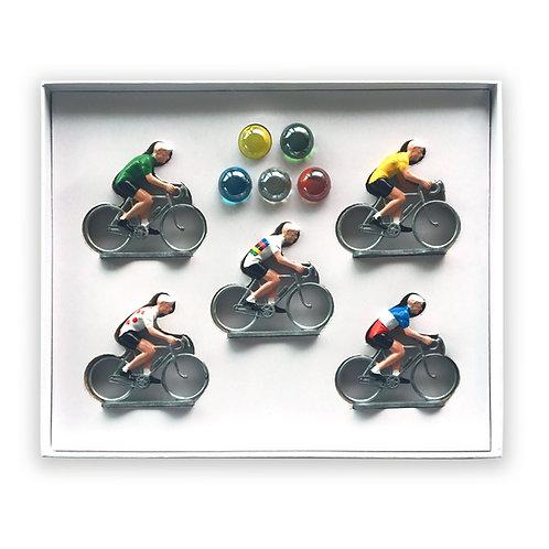 Pack de 5 cyclistes