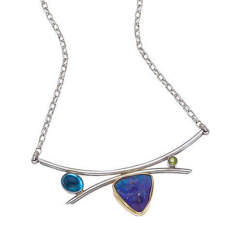 One-of-a-Kind Mixed Metal & Boulder Opal Necklace