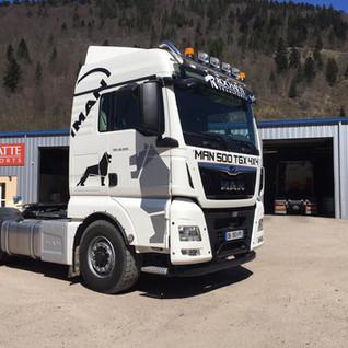 Rochatte transport camion  illico perso la bresse personnalisation tous supports communication visuelle hautes vosges