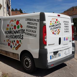 La camionette des fermiers illico perso la bresse personnalisation tous supports communication visuelle hautes vosges