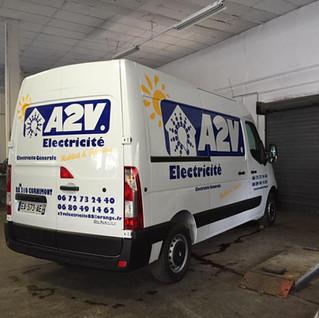 A2V électricité  illico perso la bresse personnalisation tous supports communication visuelle hautes vosges