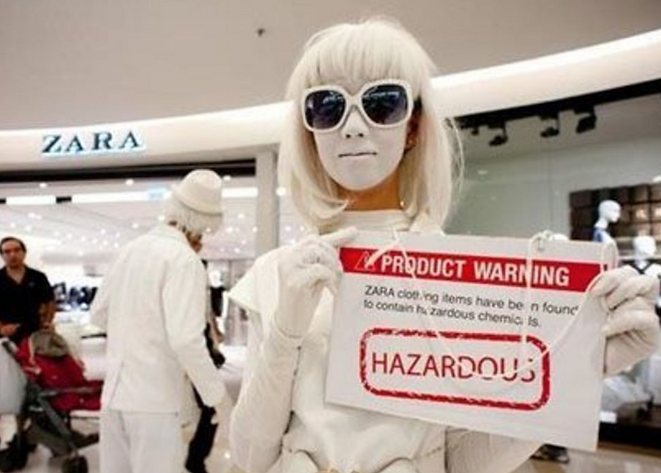 CW pollution in fashion industry