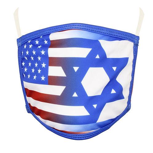 US-Israel Flag Face Mask