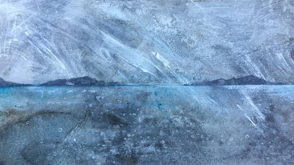 Snow on Loch Broom
