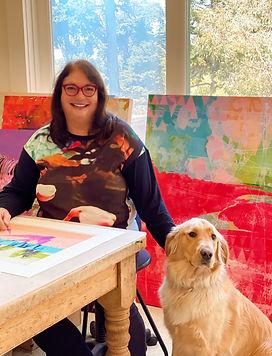 Karen Olsen-Dunn with Monty.JPG