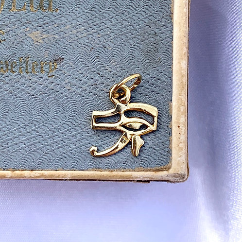Vintage 18ct Gold Eye Of Horus Charm