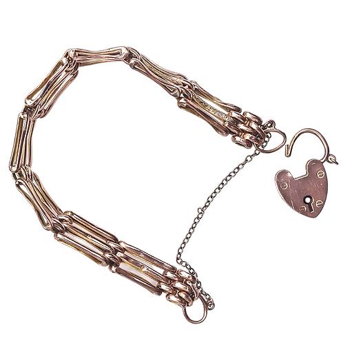 Antique Edwardian 9ct Gated Bracelet