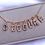 Thumbnail: Antique 14k Gold Old Cut Diamond Letter Charms