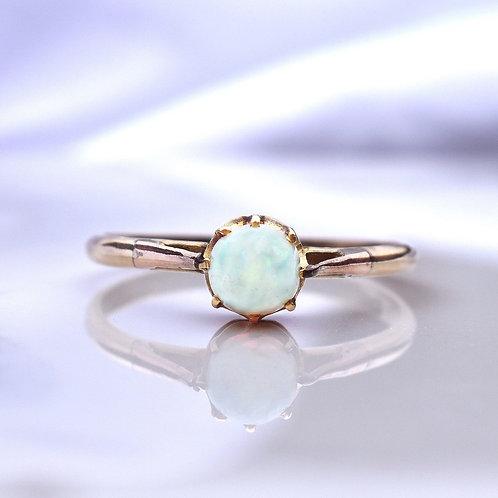 Edwardian High Cabochon Opal Ring