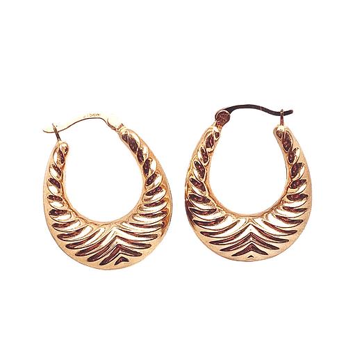 Vintage 9ct Gold Chunky Door Knocker Hooped Earrings