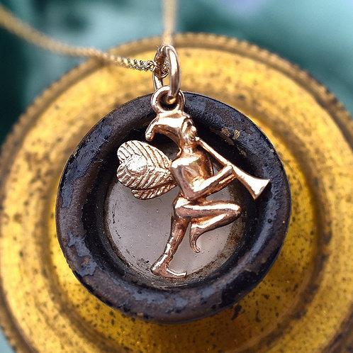 Vintage 9ct Gold Fairy Charm