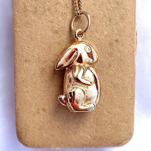 Vintage 9ct Gold Rabbit Charm