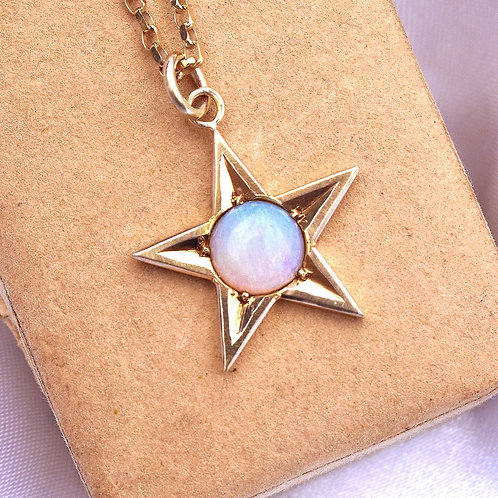 Rare Spectacular 15ct Gold Opal Cosmic Star Charm