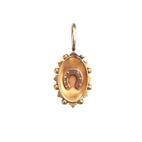 Victorian 15ct Gold Horseshoe Charm