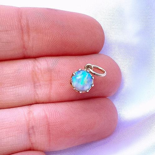 Victorian Aurora Borealis 15ct Opal Charm