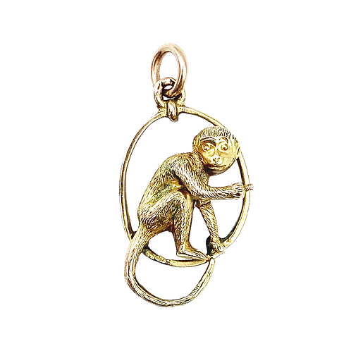 Vintage 9ct Gold Cheeky Monkey Charm