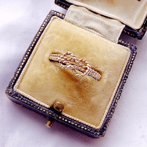 Vintage 9ct Gold Nautical Rope Ring