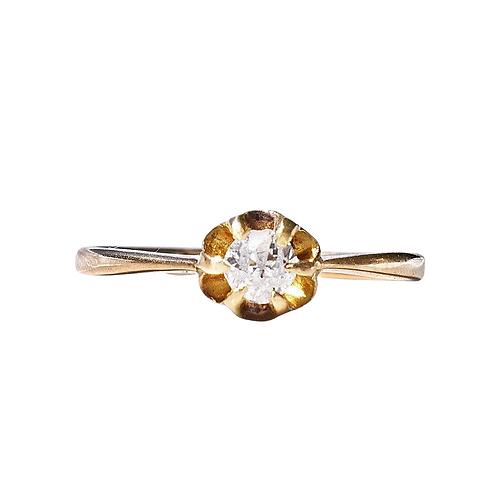 Antique 18ct Gold Old Mine Cut Diamond Ring