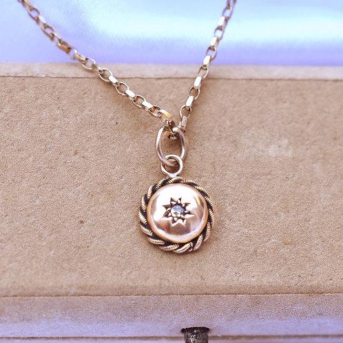 Victorian 15ct Gold Diamond Star Charm