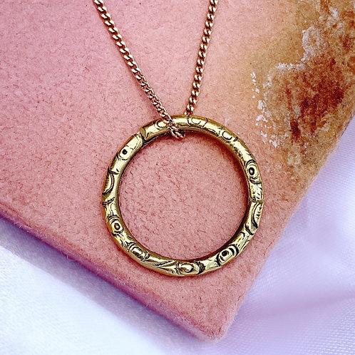 Antique Pinchbeck Georgian Golden Split Ring