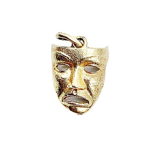 Vintage 9ct Gold Theatre Mask Charm