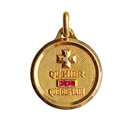 18ct gold french qu hier qu demain love token charm