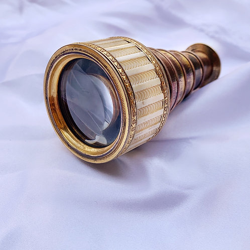An Antique Carved Bone Pocket Telescope