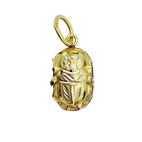 Vintage 18ct Gold Lucky Scarab Charm