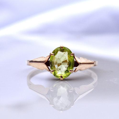 Vintage 9ct Gold Peridot Ring