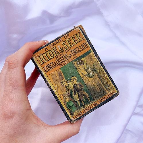 Antique Edwardian Card Game