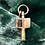 Thumbnail: Victorian 9ct Gold Cased Forget Me Not Key
