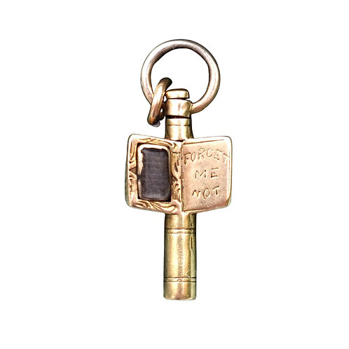 Victorian 9ct Gold Cased Forget Me Not Key